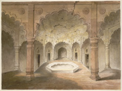 The bath chambers in the palace at Agra